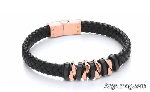دستبند چرم شیک و زیبا