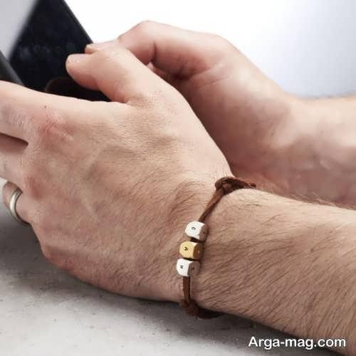 طرح دستبند چرم مردانه