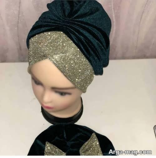 مدل کلاه حجاب مجلسی شیک و زیبا