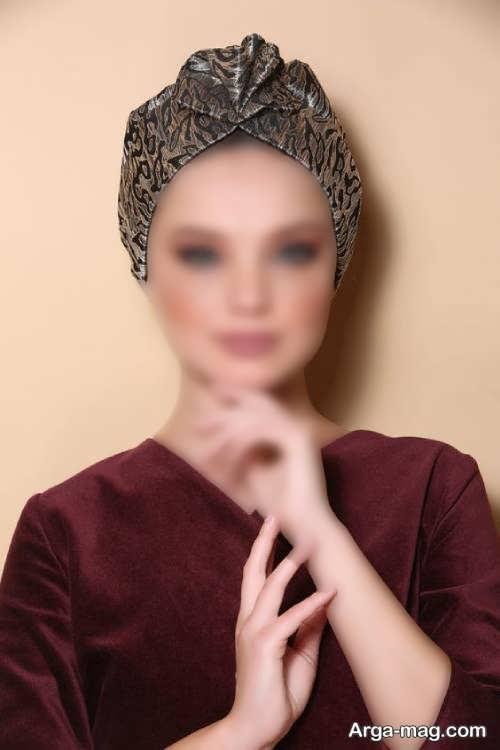 کلاه حجاب طرح دار