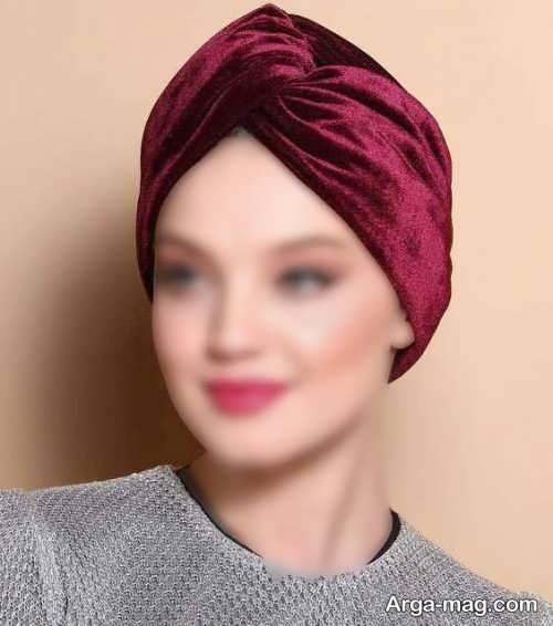 کلاه حجاب مجلسی مخمل