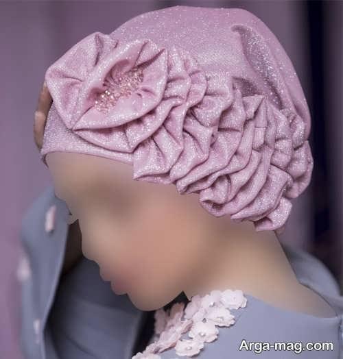 کلاه حجاب رنگ روشن