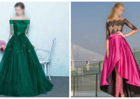 مدل لباس مجلسی یقه باز