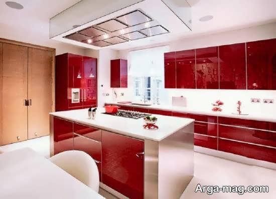 رنگ کابینت آشپزخانه های نقلی با ابعاد کم