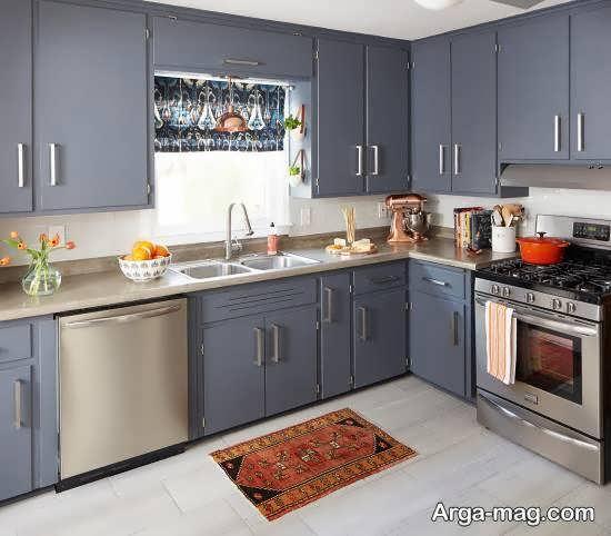 آشنایی با رنگ کابینت آشپزخانه با متراژ کم