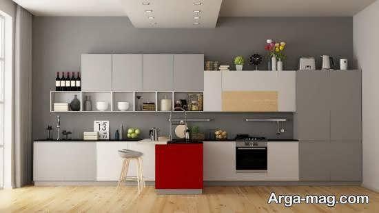 رنگ کابینت آشپزخانه با ابعاد کم