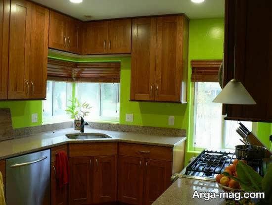رنگ های زیبا برای کابینت آشپزخانه کوچک