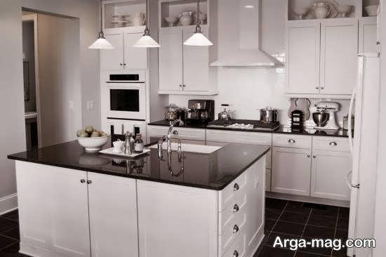 رنگ برای کابینت آشپزخانه دارای ابعاد کم