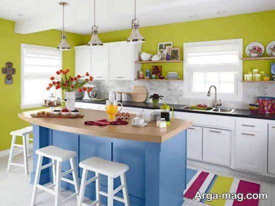 آَنایی با ایده هایی شیک از رنگ برای کابینت آشپزخانه کوچک