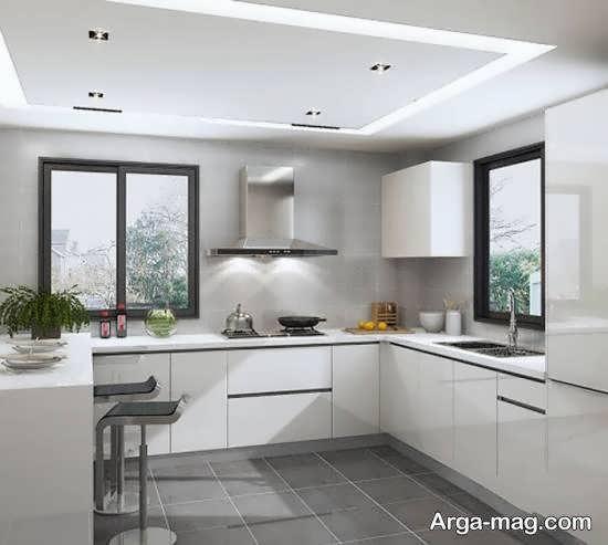 انواع ایده های جالب رنگ برای کابینت آشپزخانه کوچک