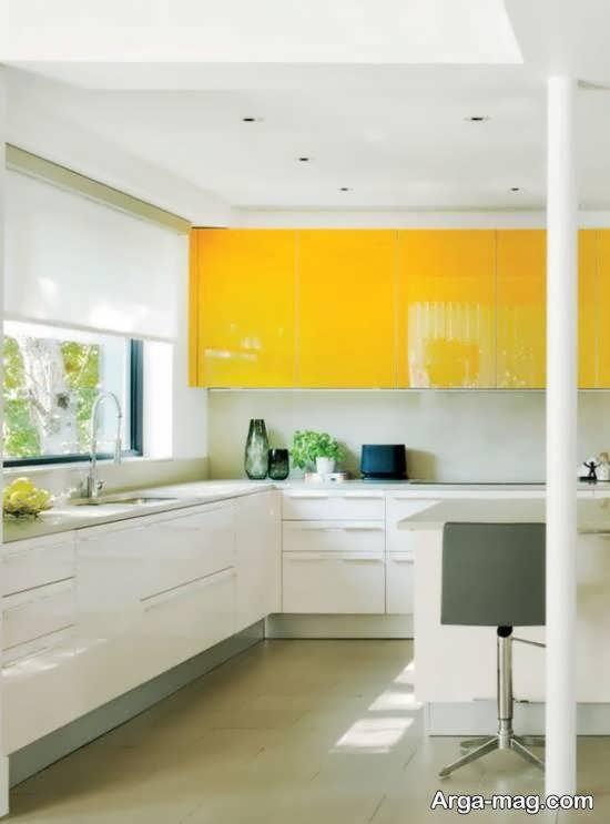 ایده هایی دوست داشتنی از رنگ مناسب کابینت آشپزخانه کوچک