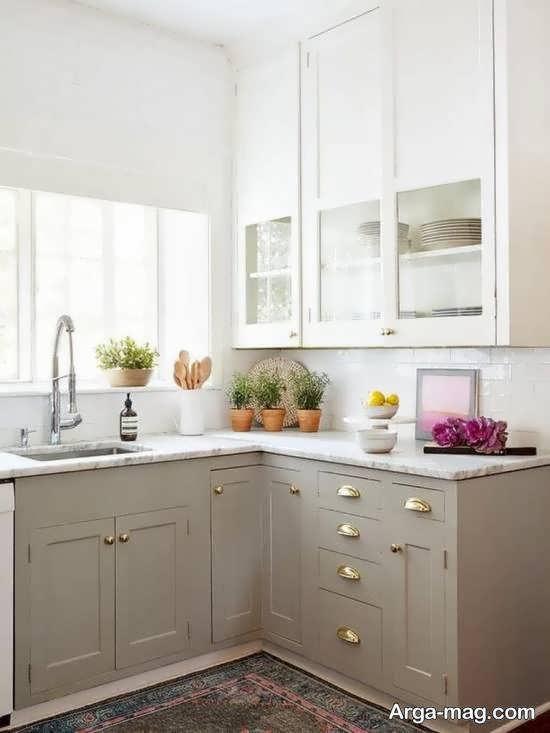 انواع نمونه های رنگ برای طراحی کابینت آشپزخانه نقلی و ابعاد پایین