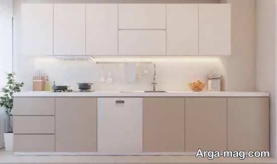 مجموعه ای از رنگ های کابینت آشپزخانه کم ابعاد
