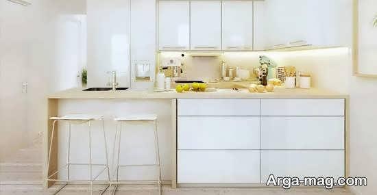 ایده های زیبا و جذابی از رنگ برای کابینت آشپزخانه کوچک