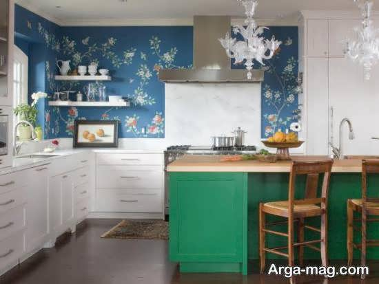 انواع ایده های جالب از رنگ واسه ی کابینت آشپزخانه کوچک