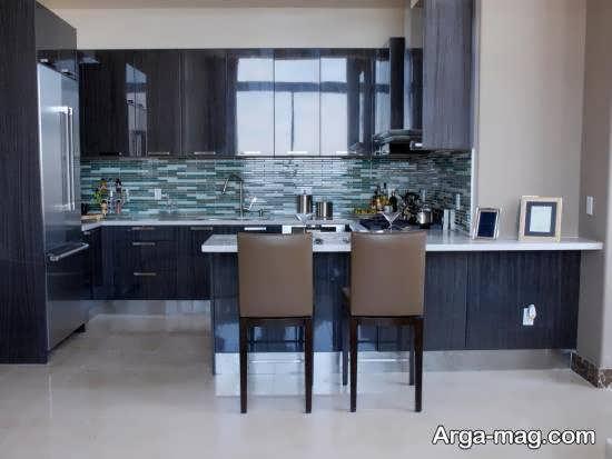 انواع ایده های جالب و جذاب ازرنگ برای کابینت آشپزخانه کوچک