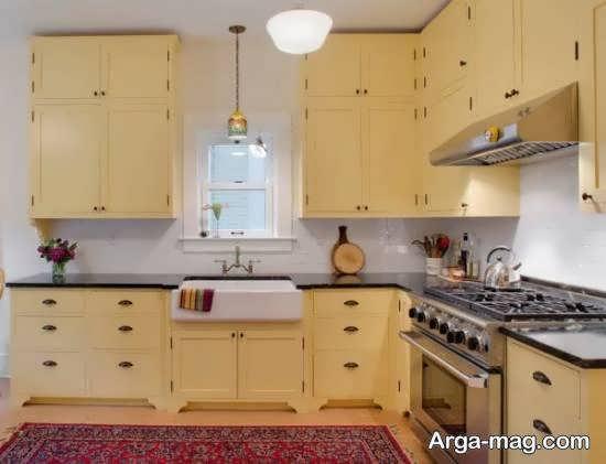 آشنایی با رنگ های زیبا جهت کابینت آشپزخانه کوچک