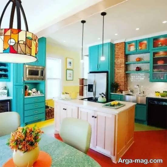 آَنایی با مجموعه ای از بهترین رنگ برای کابینت آشپزخانه کم عرض و تنگ