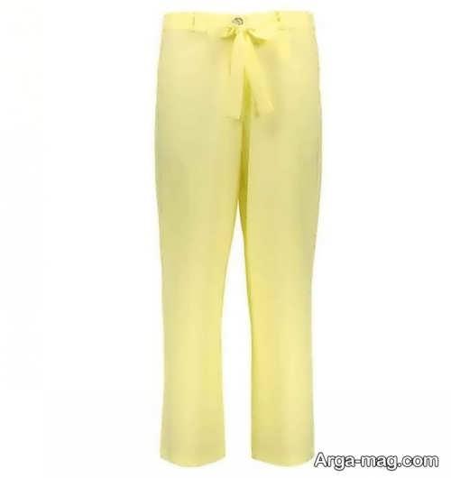 شلوار رنگ روشن پارچه ای