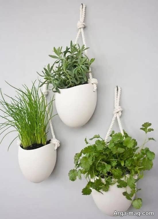 انواع مدل گلدان آویز برای تزیین منازل کوچک