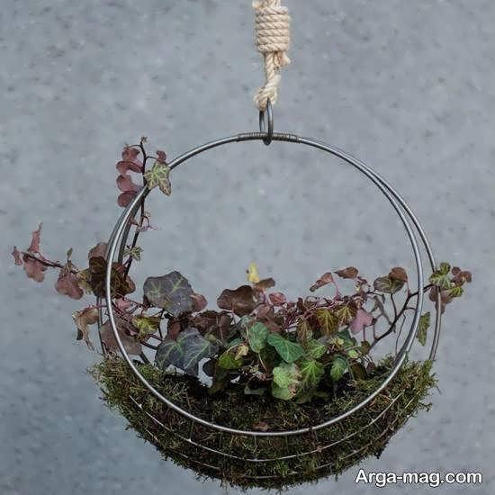 انواع نمونه های گلدان آویز برای خارج و داخل منزل