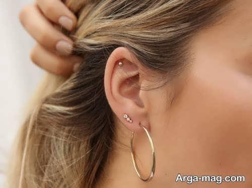 گوشواره ساده حلقه ای