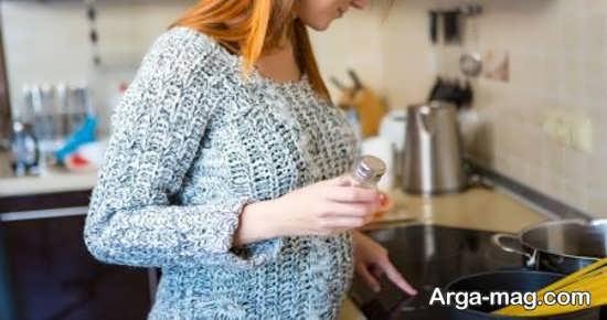 عوارض مصرف نمک در بارداری