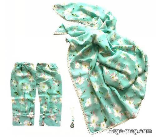 ست روسری و ساق دست سبز