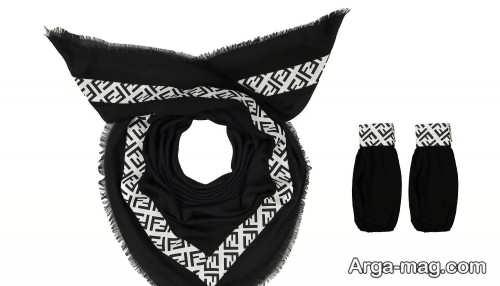 ست روسری و شال مشکی
