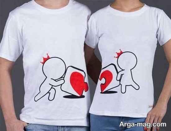 تیشرت ست زن و شوهر عاشقانه