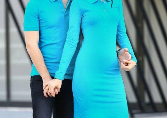 ست لباس آبی فیروزه ای