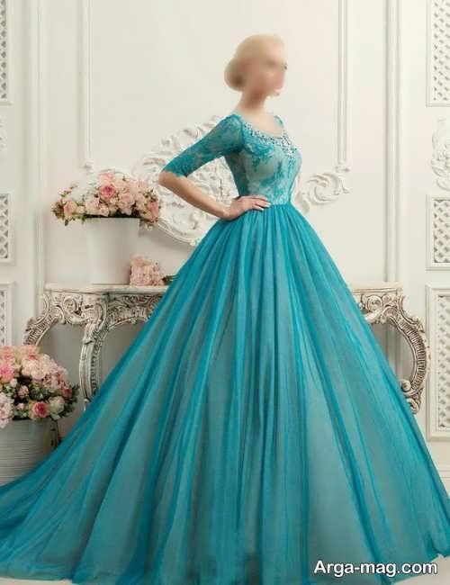 لباس عروس زیبا و کار شده