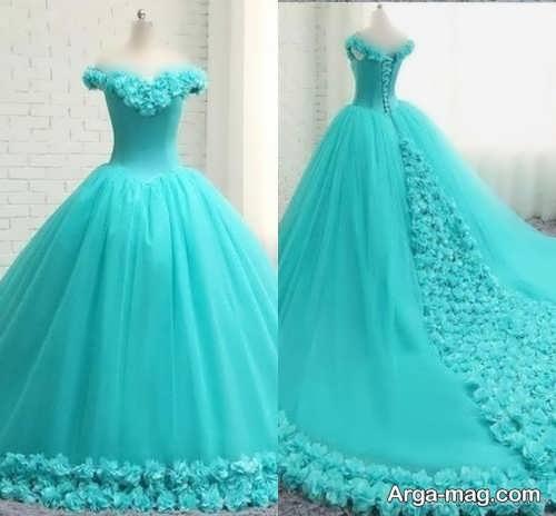 مدل لباس عروس فیروزه ای