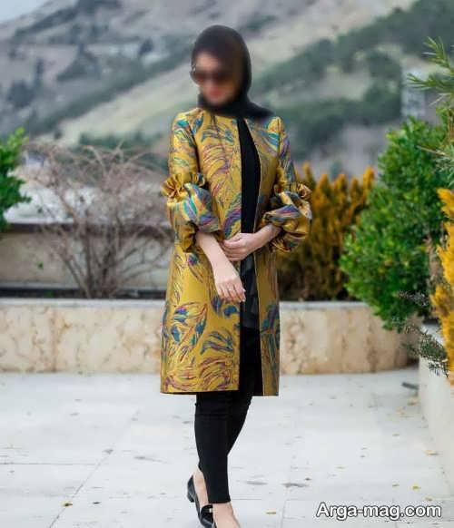 مدل مانتو گلدار برای عید 1400