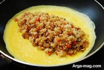 روش تهیه املت برنج در منزل