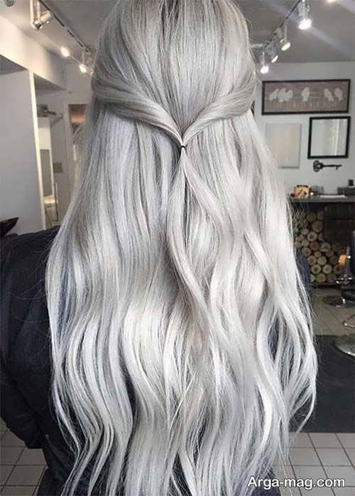رنگ موی خاکستری روشن