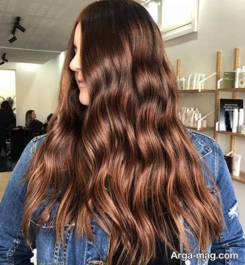رنگ موی همراه با هایلایت
