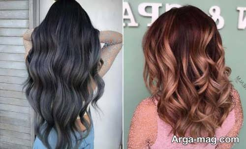 رنگ مو تیره و روشن برای عید 1400