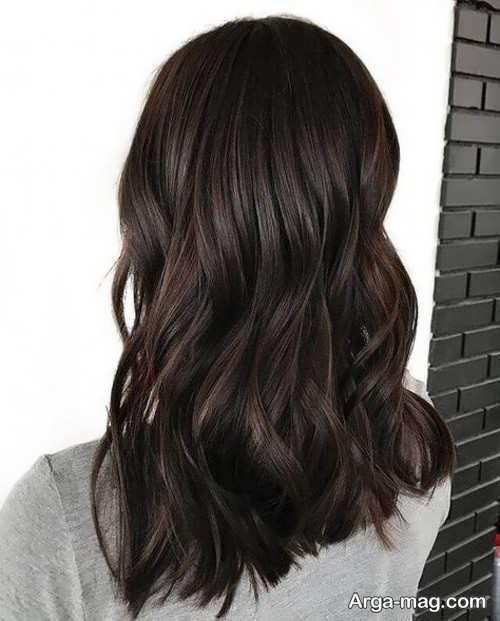 رنگ موی تیره برای عید 1400