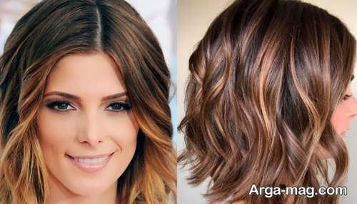 رنگ مو همراه با هایلایت