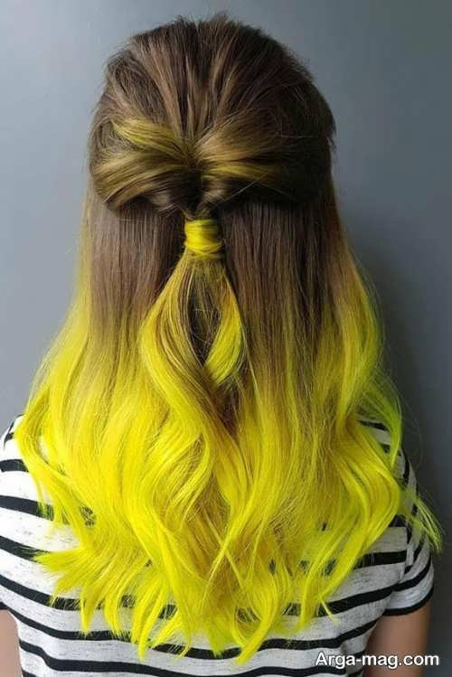 رنگ موی زرد