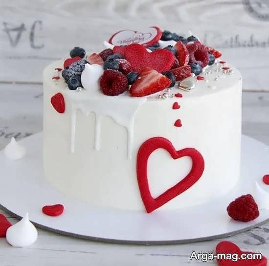 کیک تولد احساسی و رمانتیک سال نو میلادی