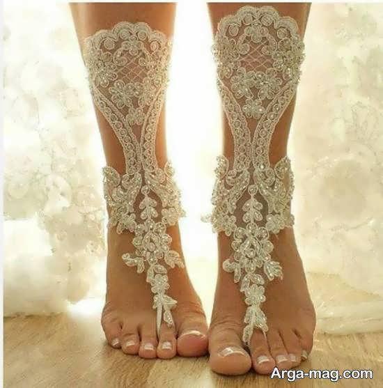 انواع نمونه های زیبا و منحصر به فرد پابند عروس