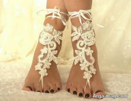 انواع طرح های ناب و نفیس پابند عروس