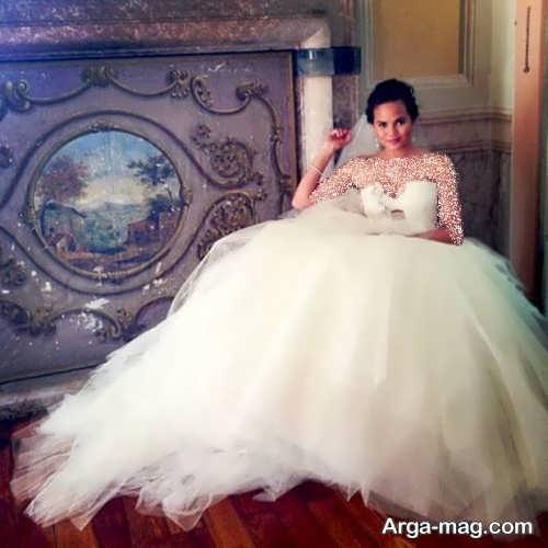 لباس عروس پف دار برای افراد مشهور