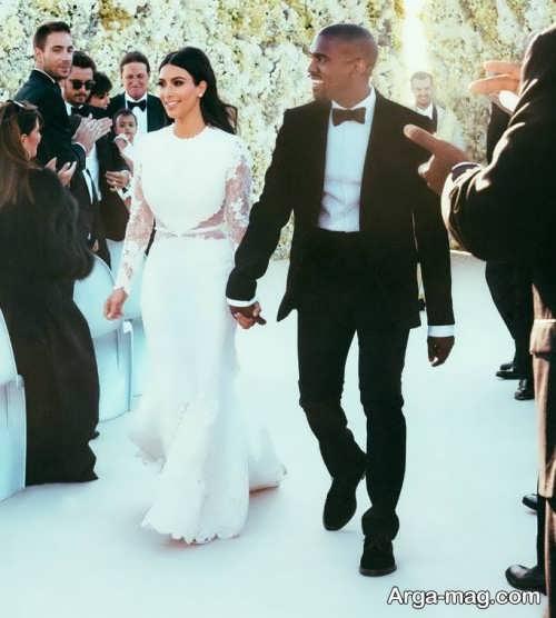 طرح پیراهن عروس کیم کارداشیان