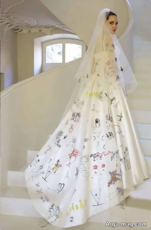 لباس عروس آنجلینا جولی