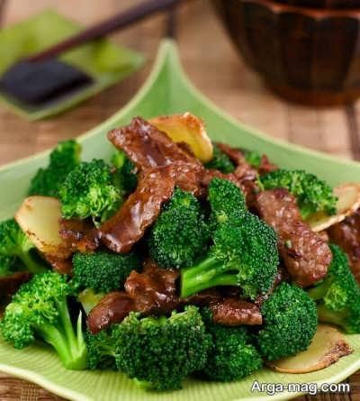 روش تهیه خوراک گوشت و کلم بروکلی