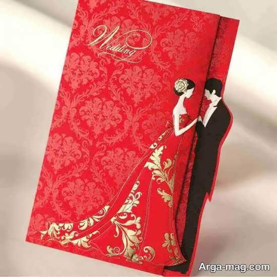 ایده های ایده آل و جذاب کارت عروسی زرشکی