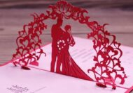 کارت های خوش رنگ و زیبای جشن ازدواج زرشکی